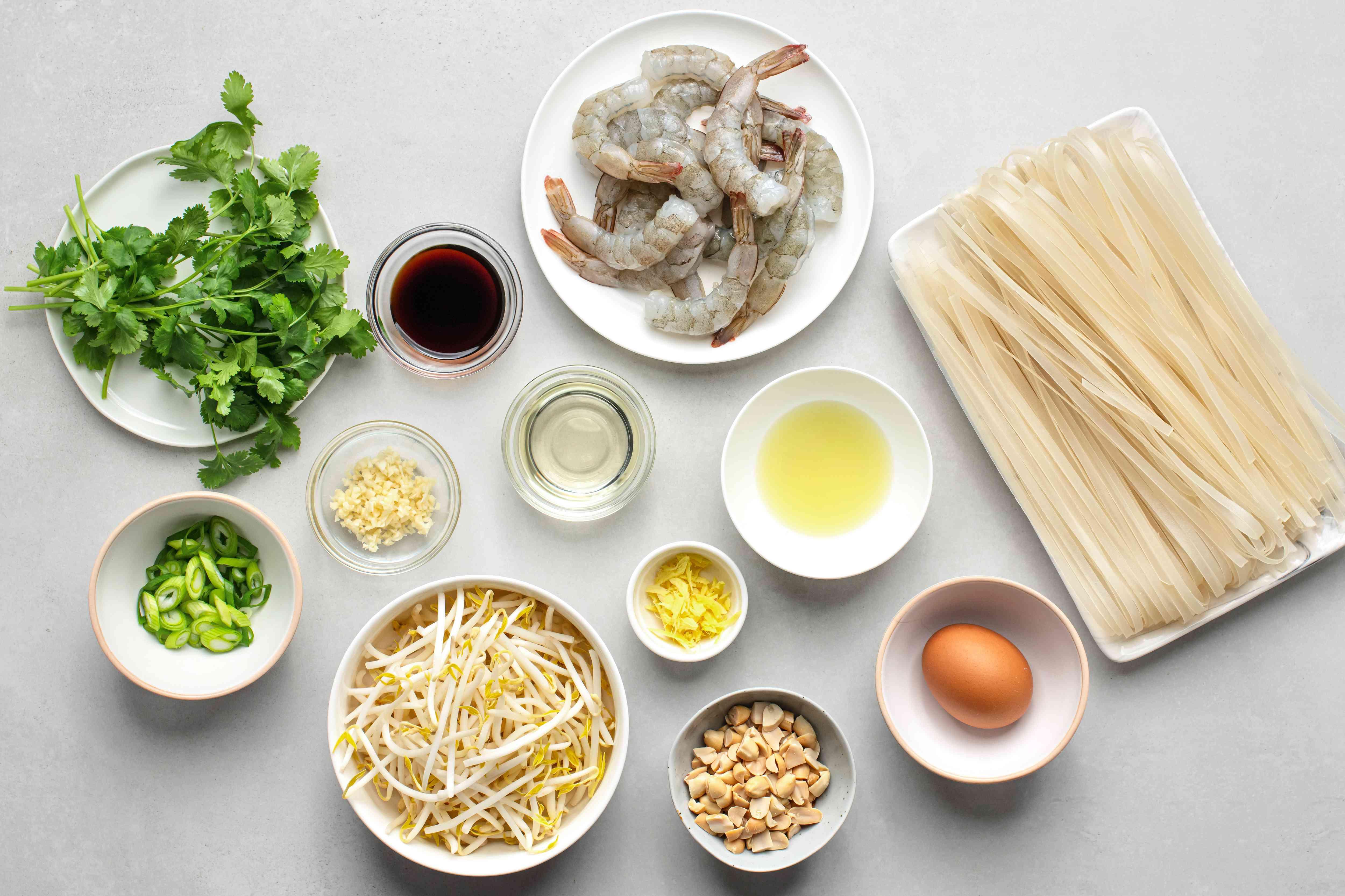 Gluten-Free Shrimp Pad Thai ingredients