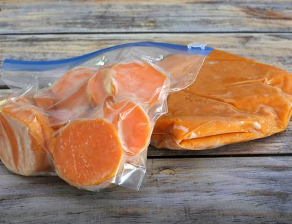 Frozen Sweet Potatoes Two Ways
