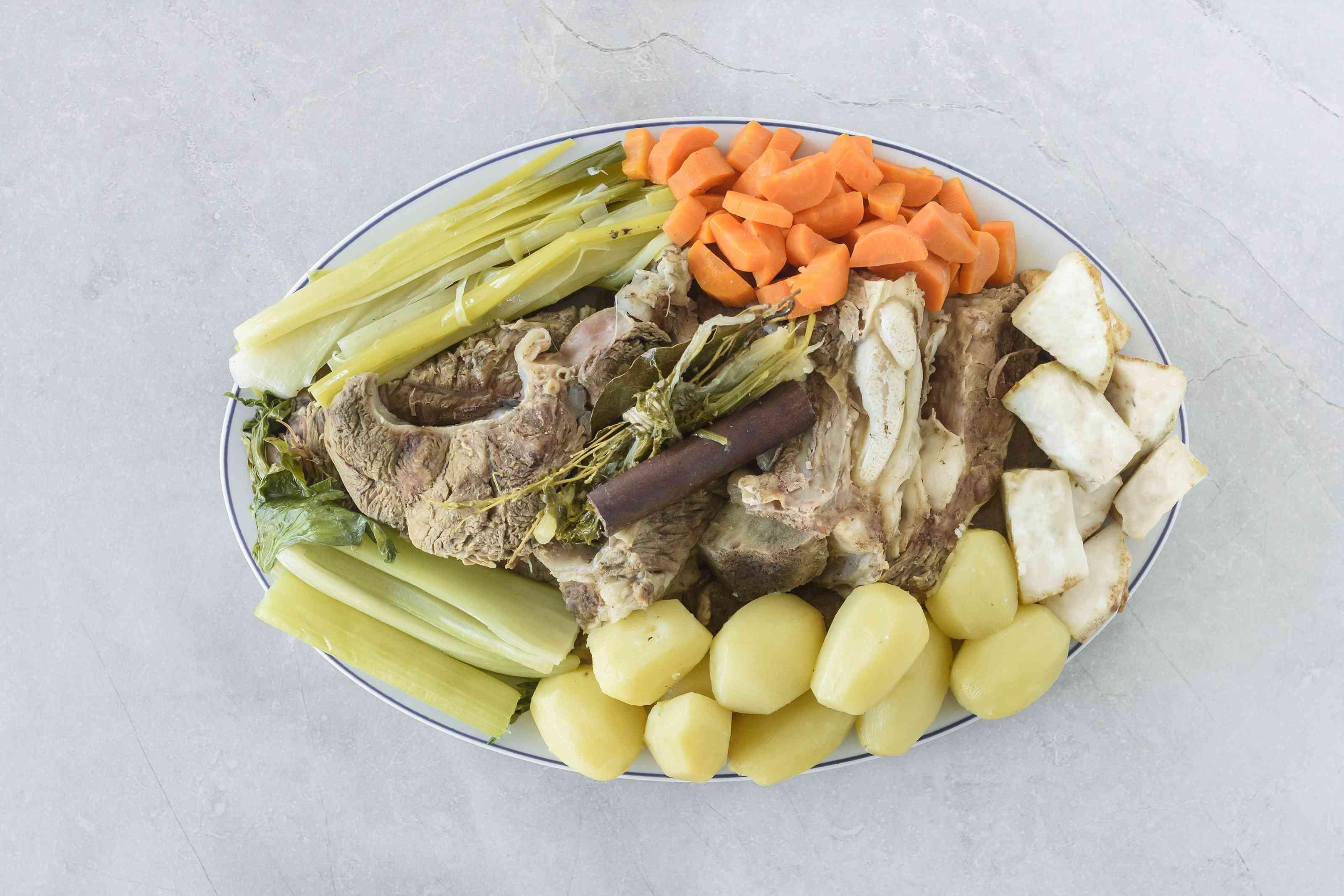 Remove each vegetable