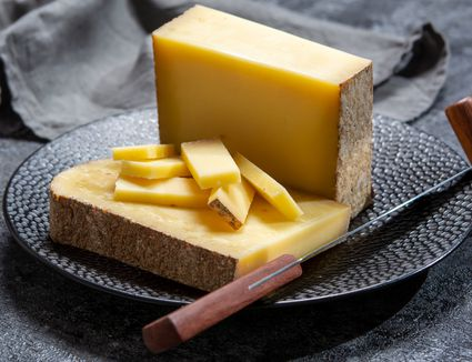 Comte cheese on a plate