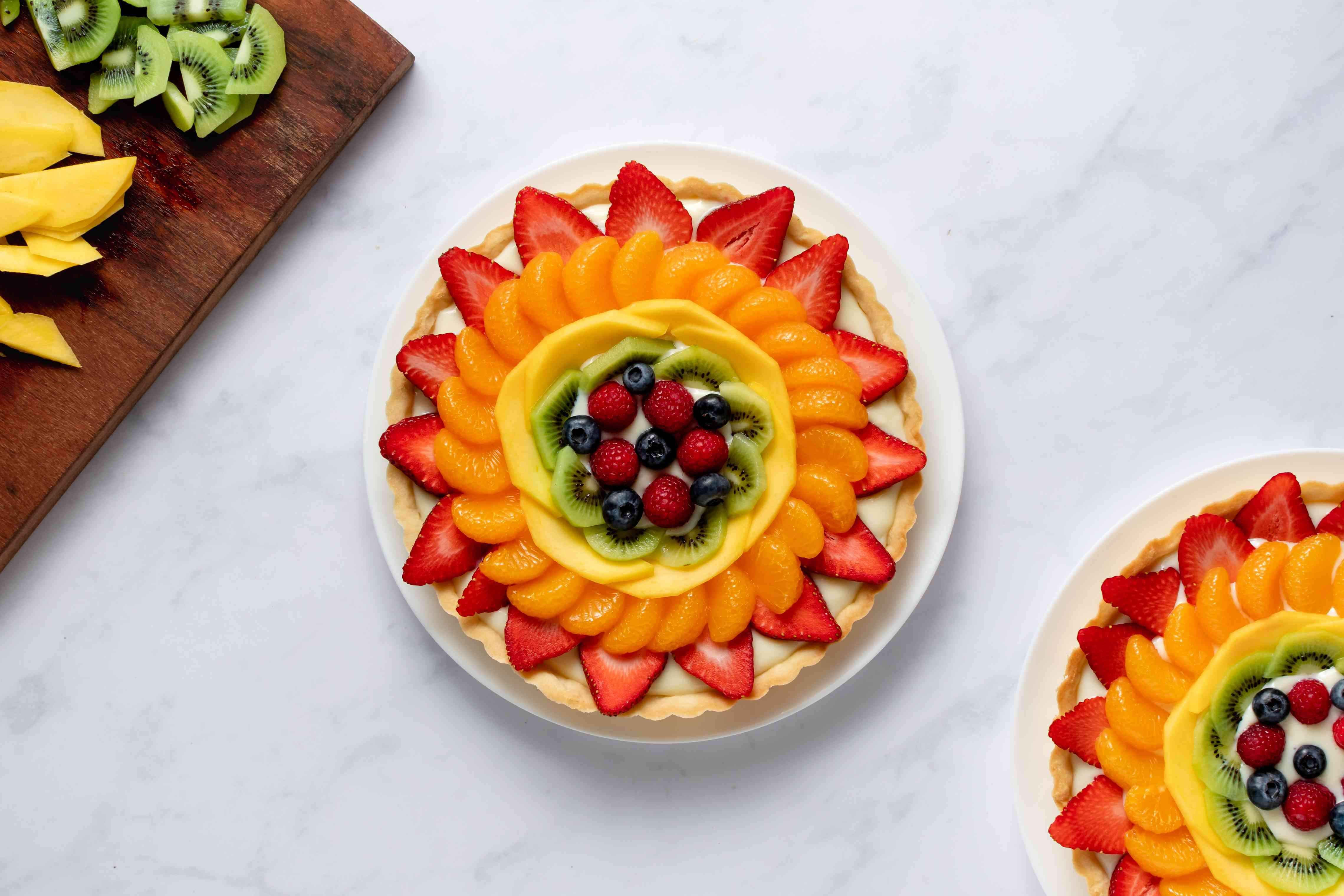 fruit on top of the tart