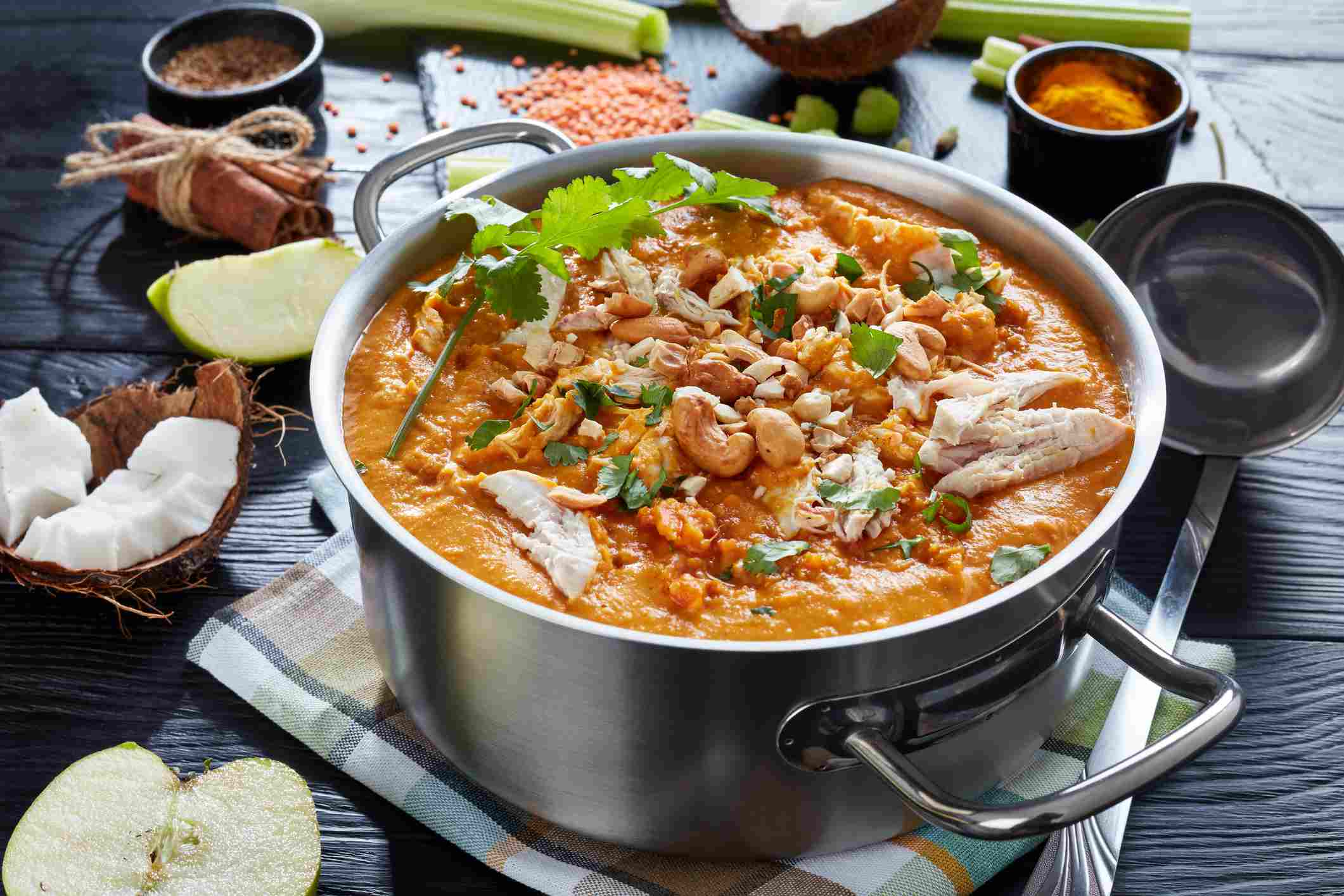 Curried Chicken Soup With Apples