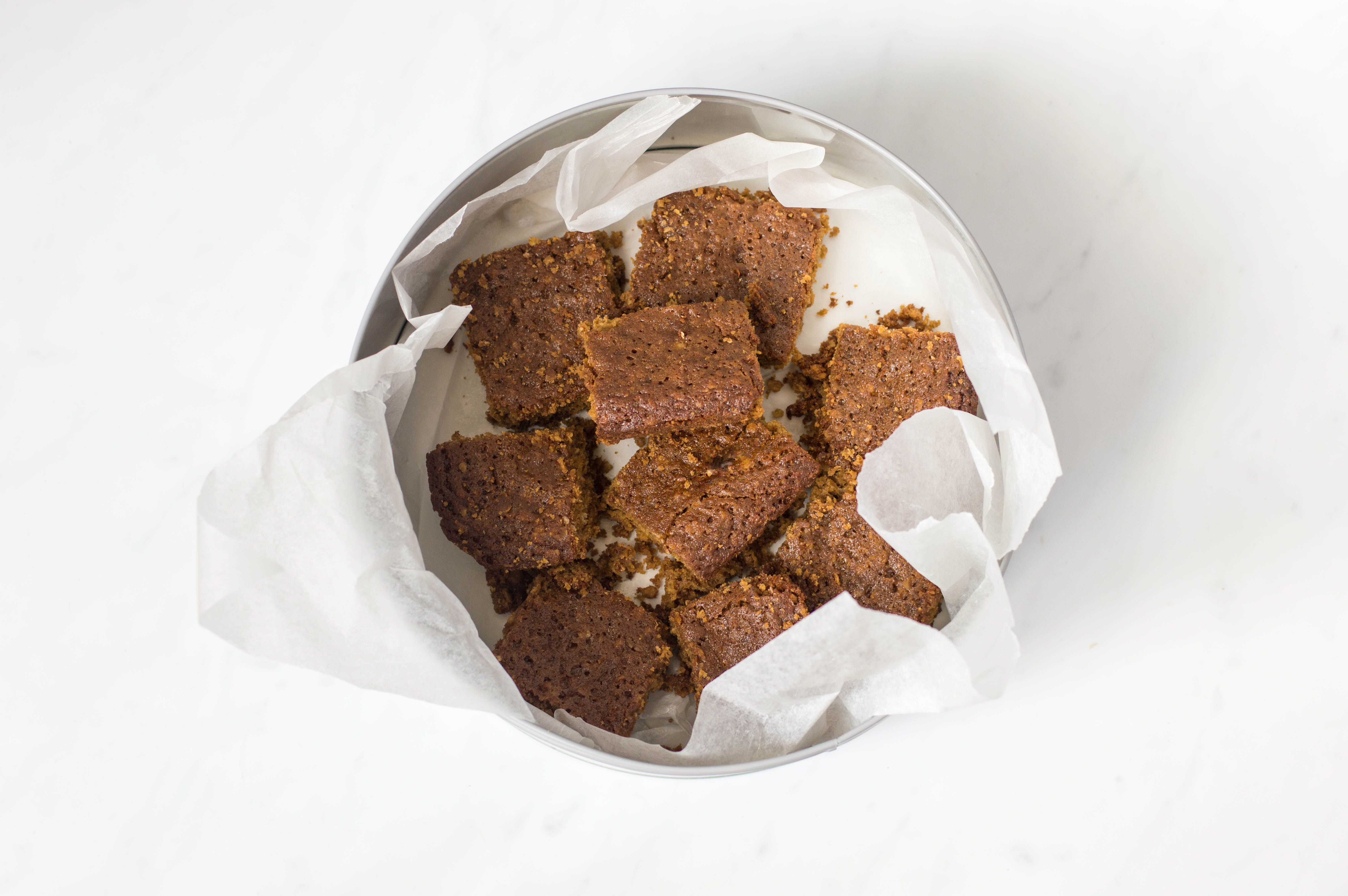 Traditional Yorkshire parkin stored in a tin