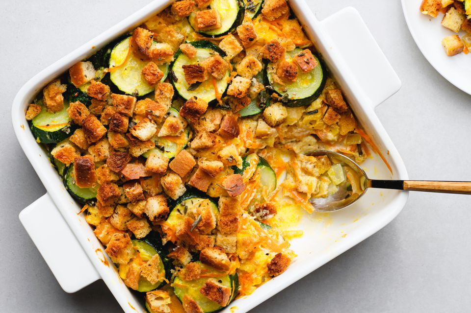 Zucchini and Stuffing Casserole