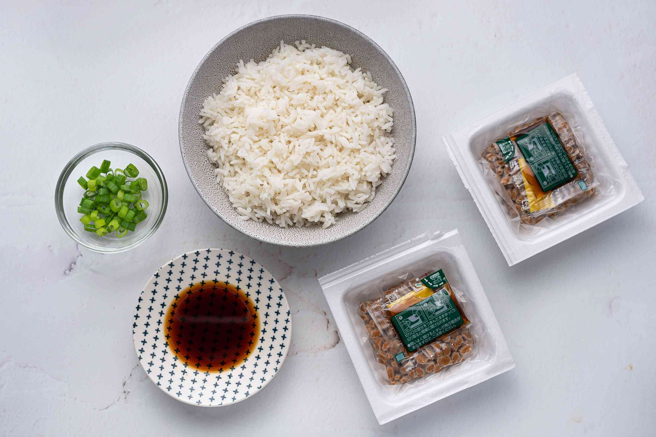 Natto With Rice ingredients