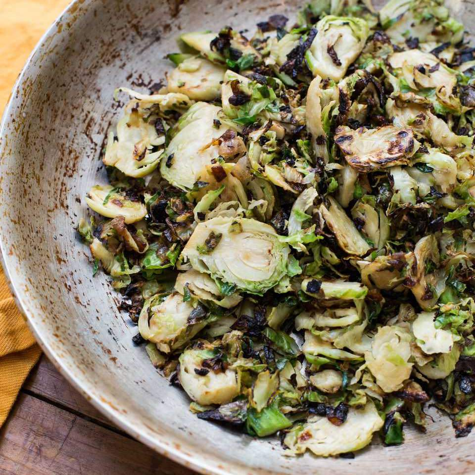 Sautéed Brussels Sprouts and Onions