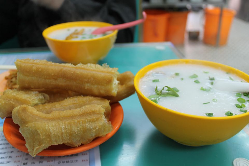 Congee and fried cruller