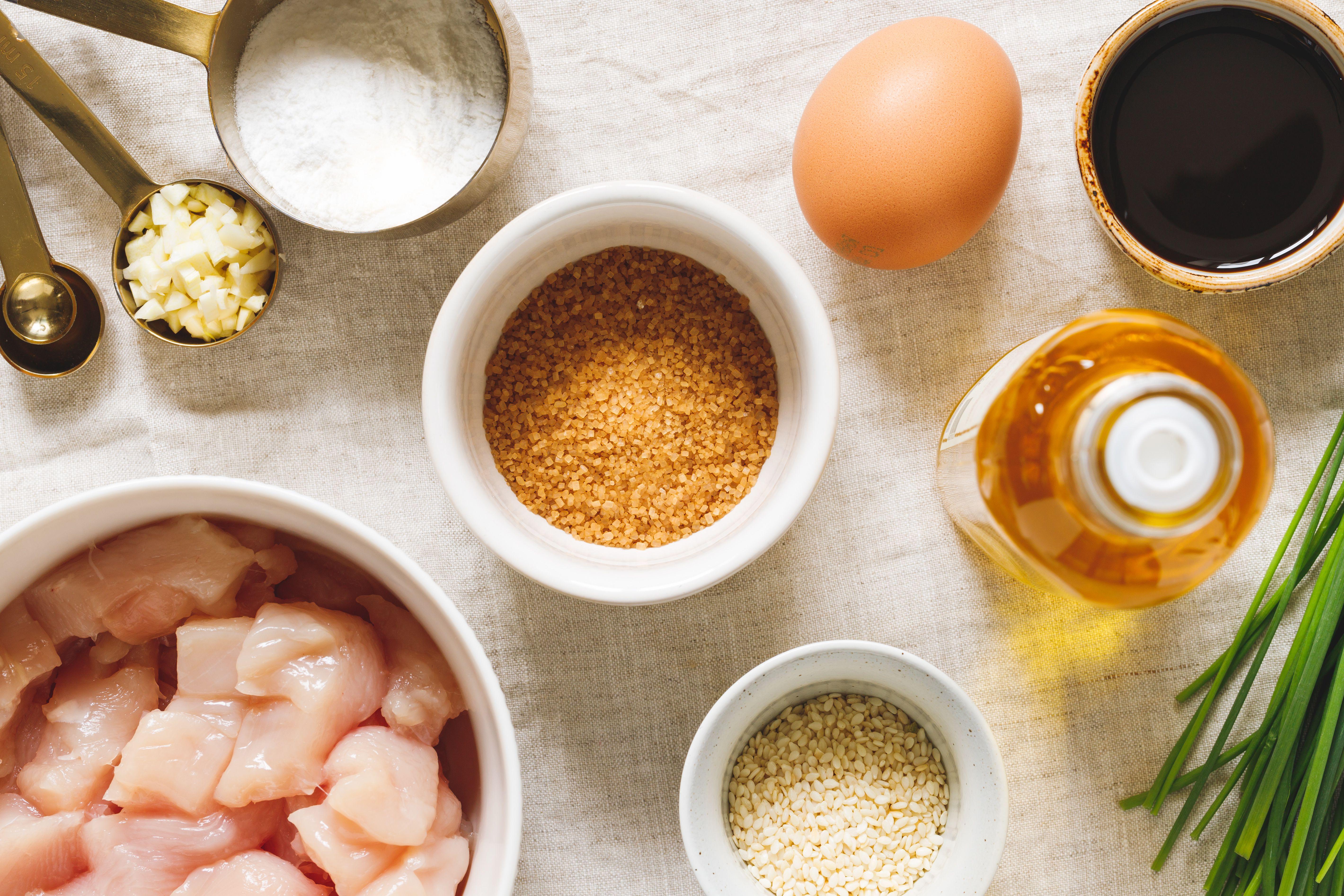 Ingredients for sesame chicken