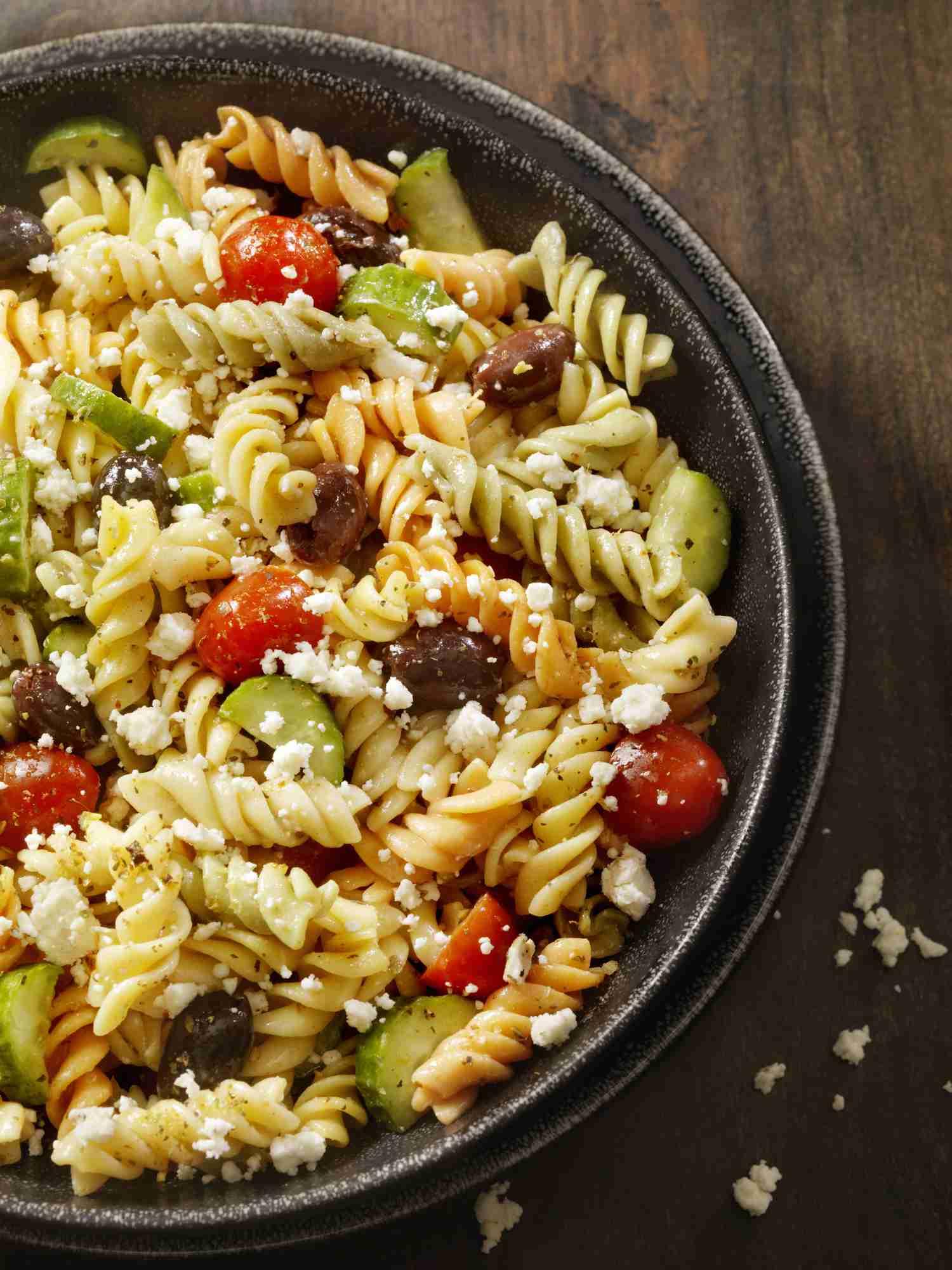 Vegetarian Olive and Feta Pasta Recipe