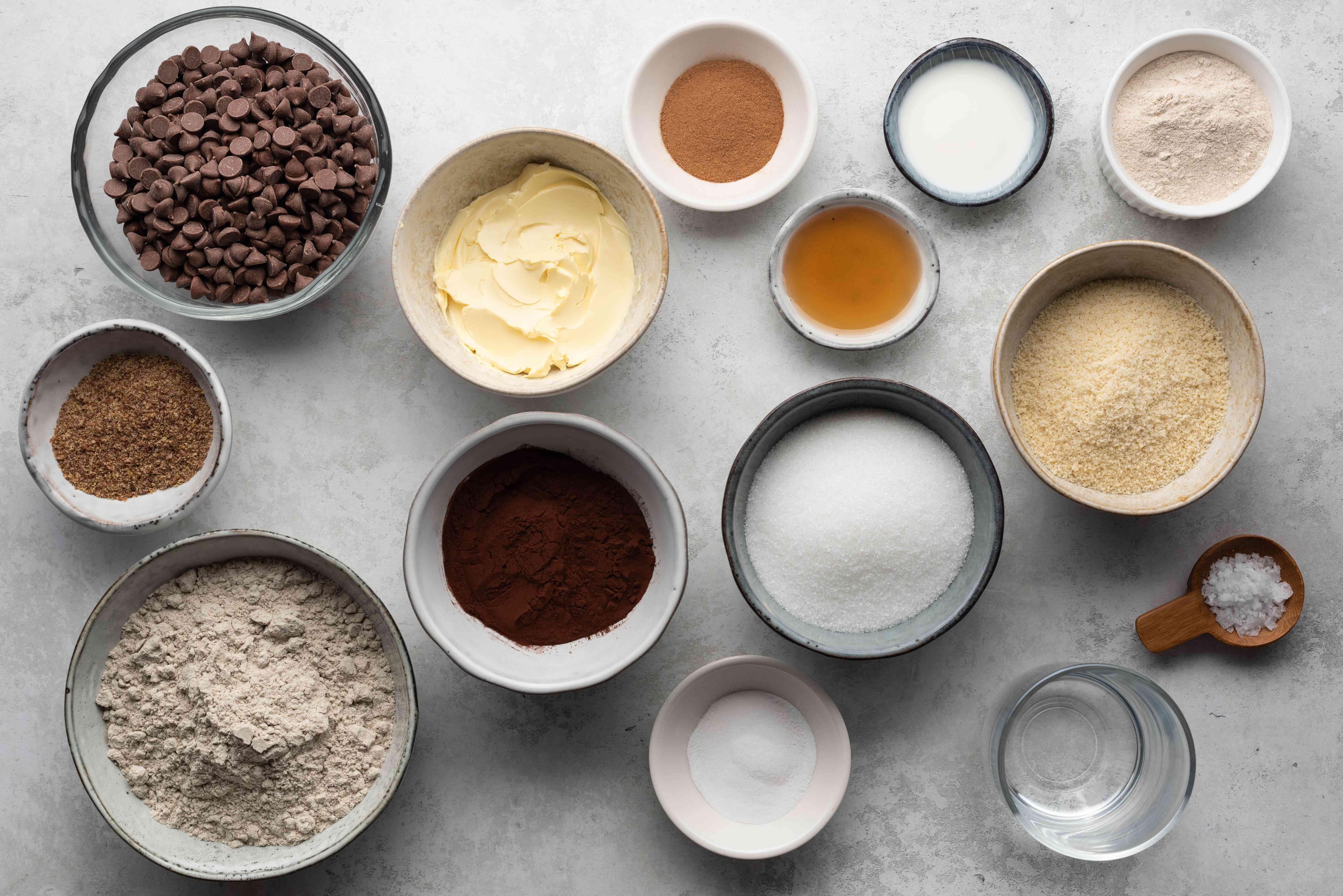 Chocolate Cinnamon Brownie Cookies ingredients