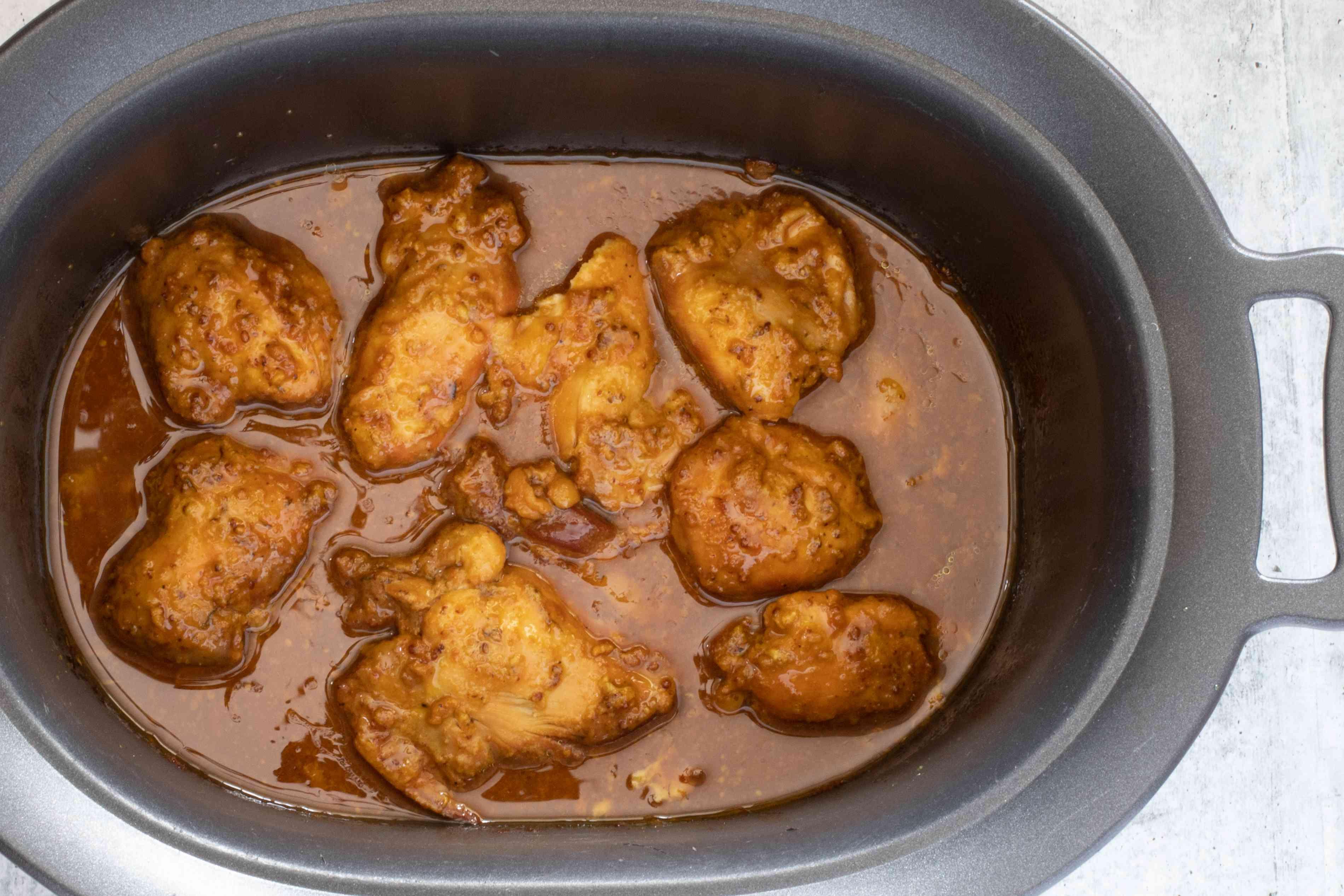 honey mustard chicken in the slow cooker