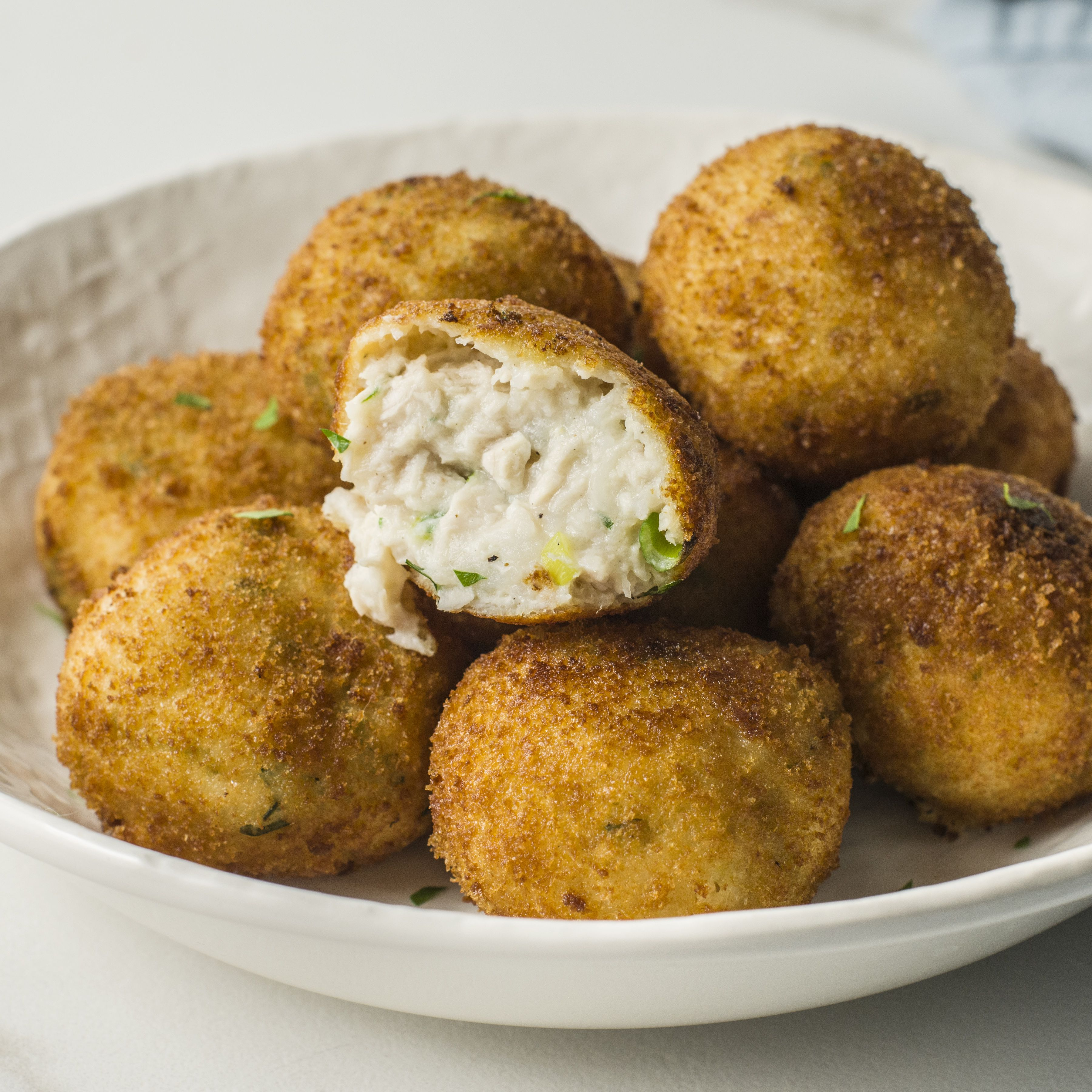 Turkey Croquettes With Mashed Potatoes Recipe