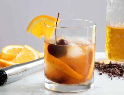 Cocoa Old-Fashioned With Chocolate-Infused Rye Whiskey