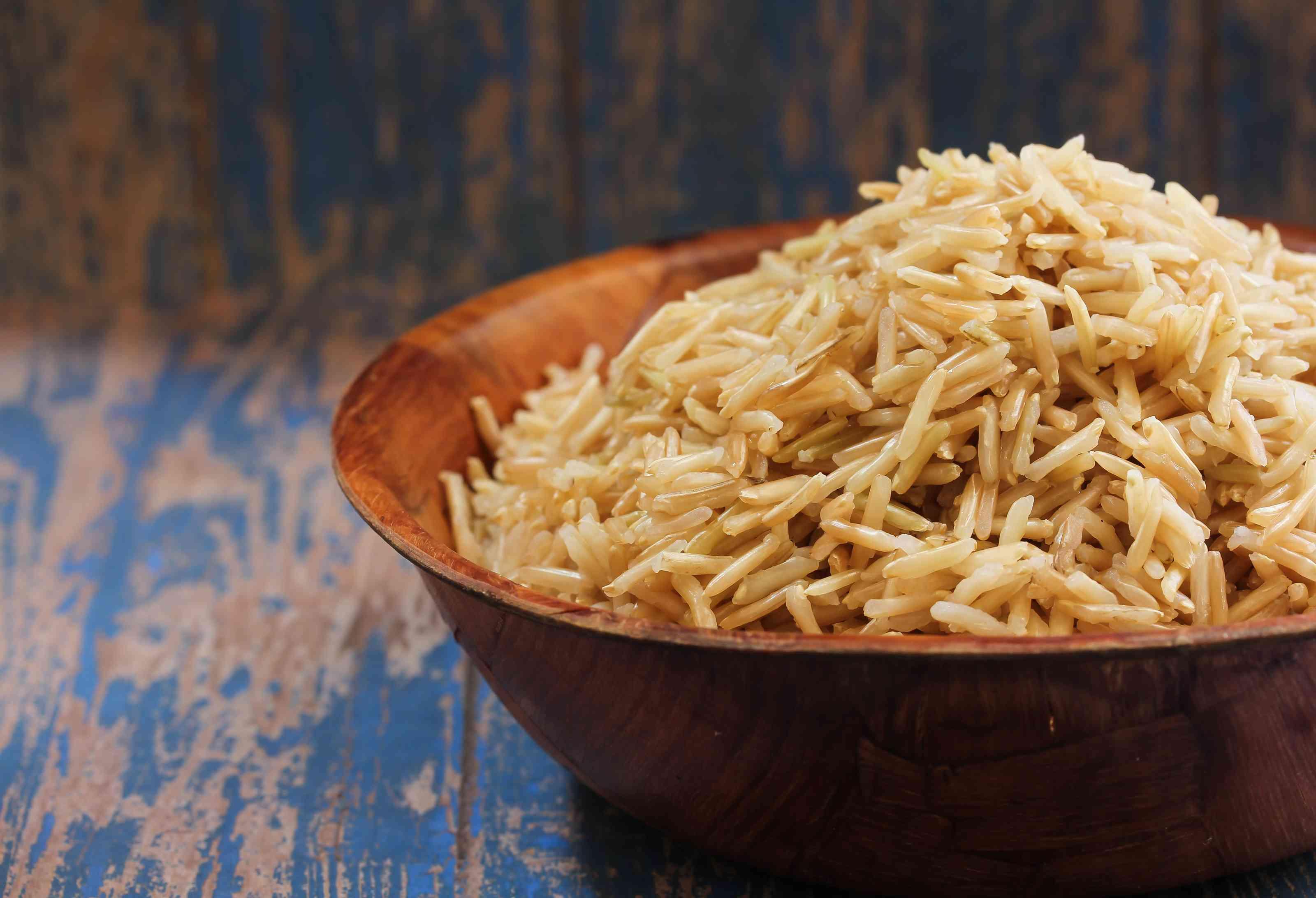 Brown Basmati Rice , selective focus