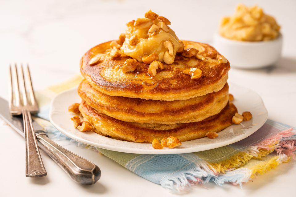 Panqueques de mantequilla de maní