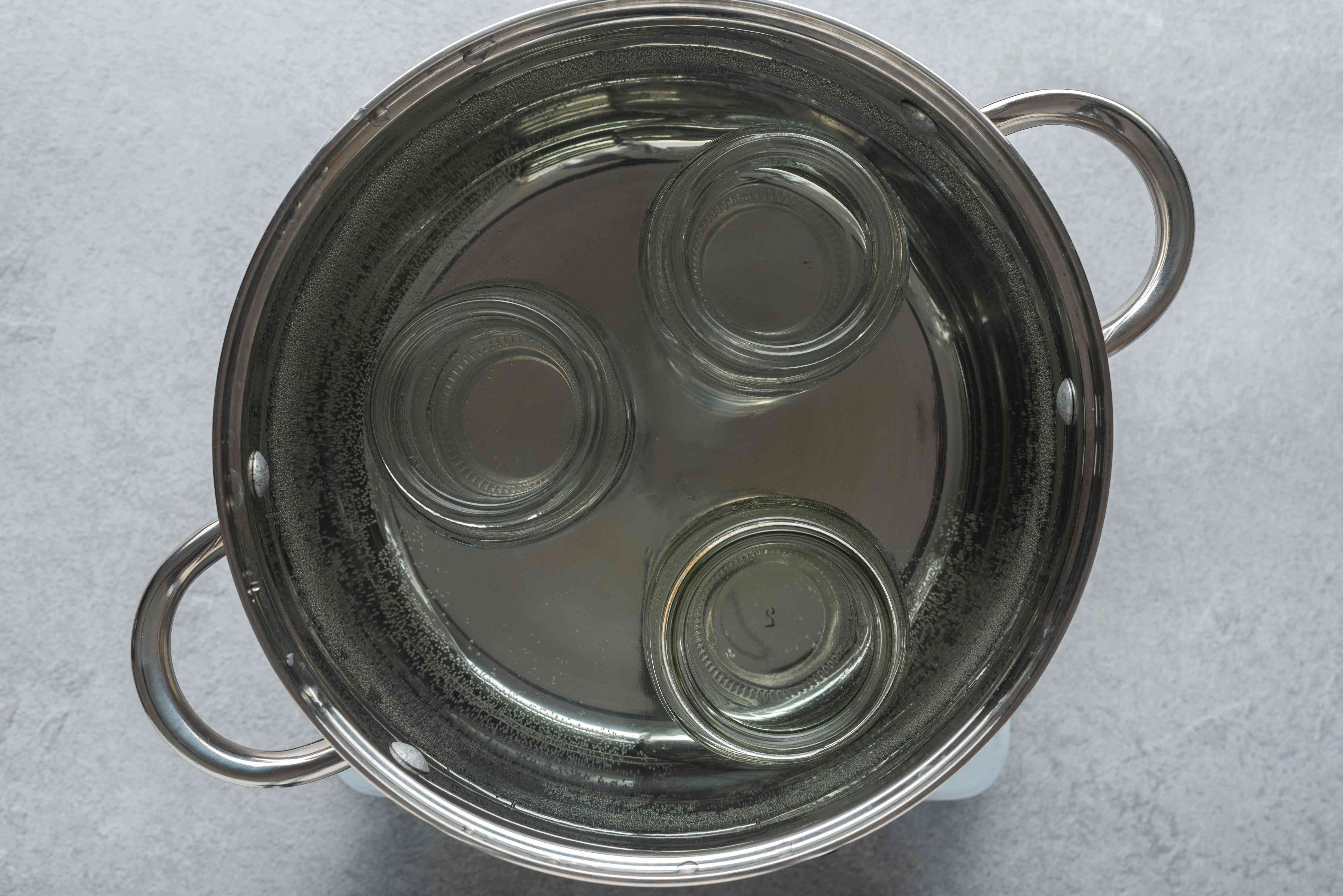 prepare cans in a water canner