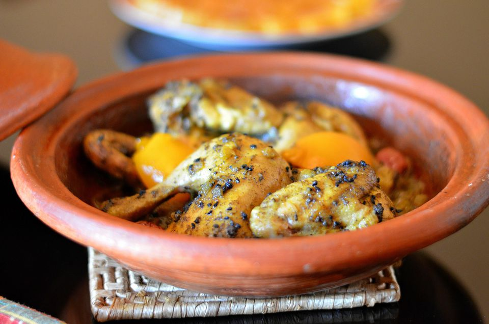 Chicken tagine with nigella seeds