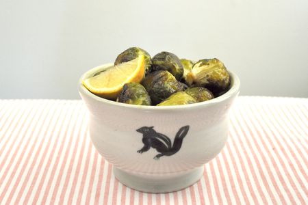 Sweet and Spicy, Whole Roasted Brussels Sprouts