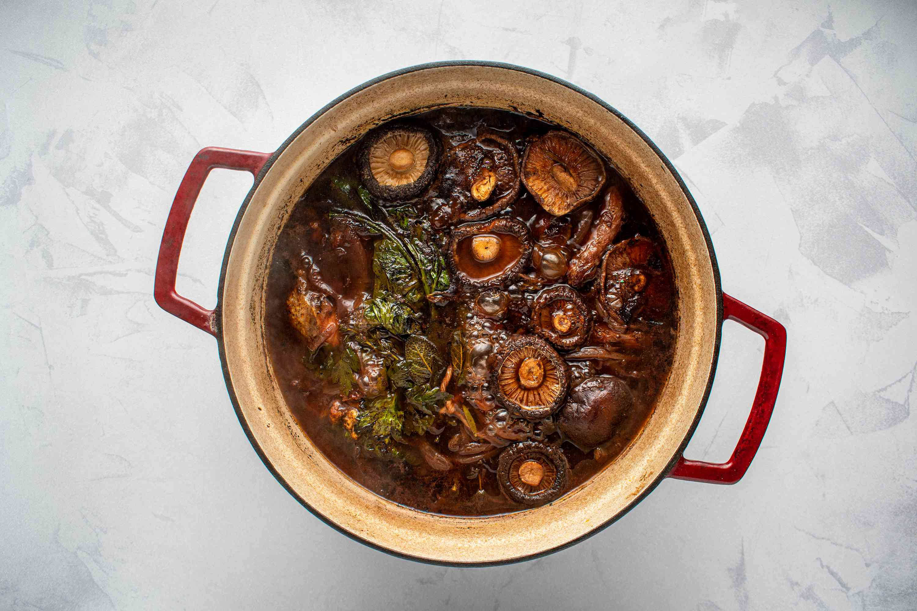 broth cooking in a pot