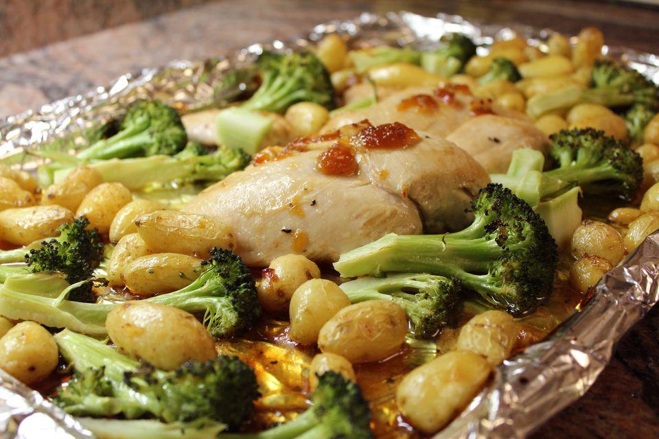 Chicken, Potato, and Broccoli Sheet Pan Dinner