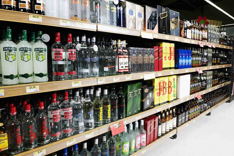 Liquor stores aisle