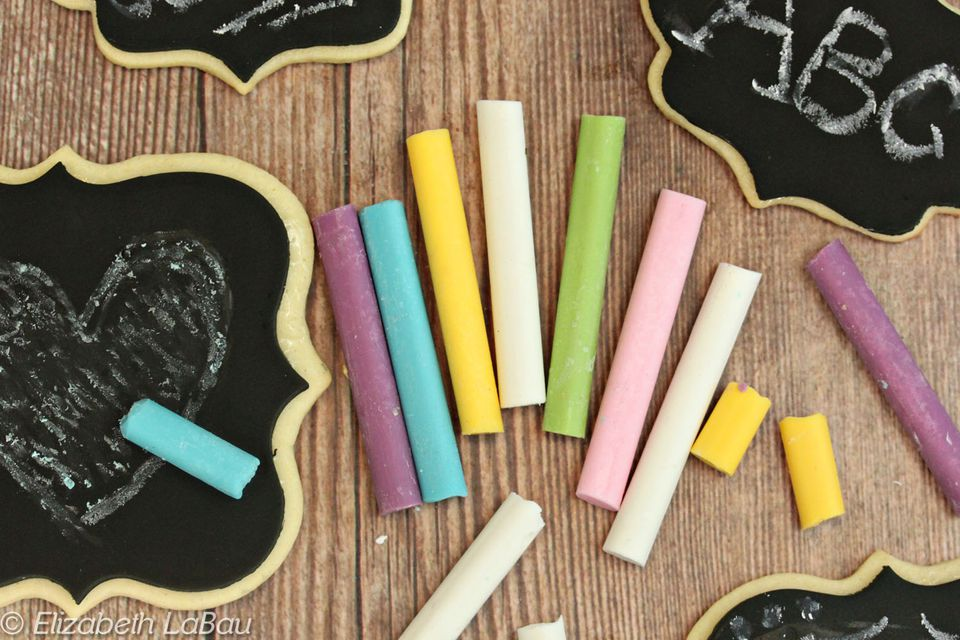 Edible Chalk with Cookie Chalkboards