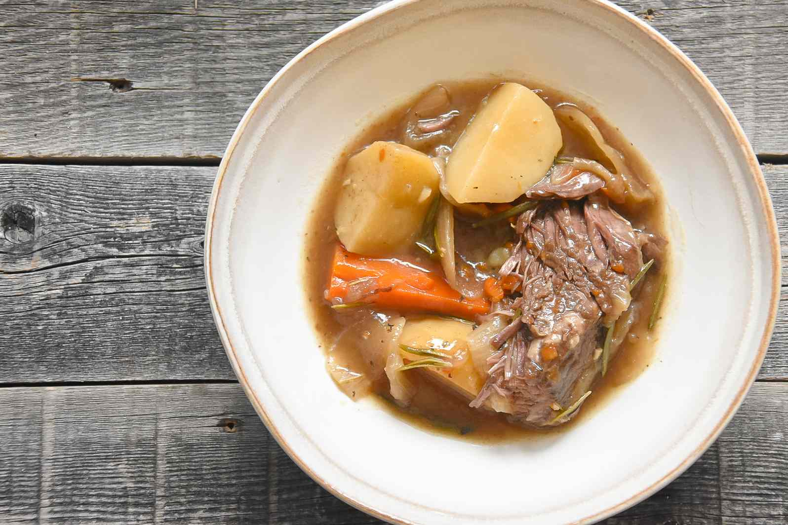 Southern Pot Roast recipe, on a plate