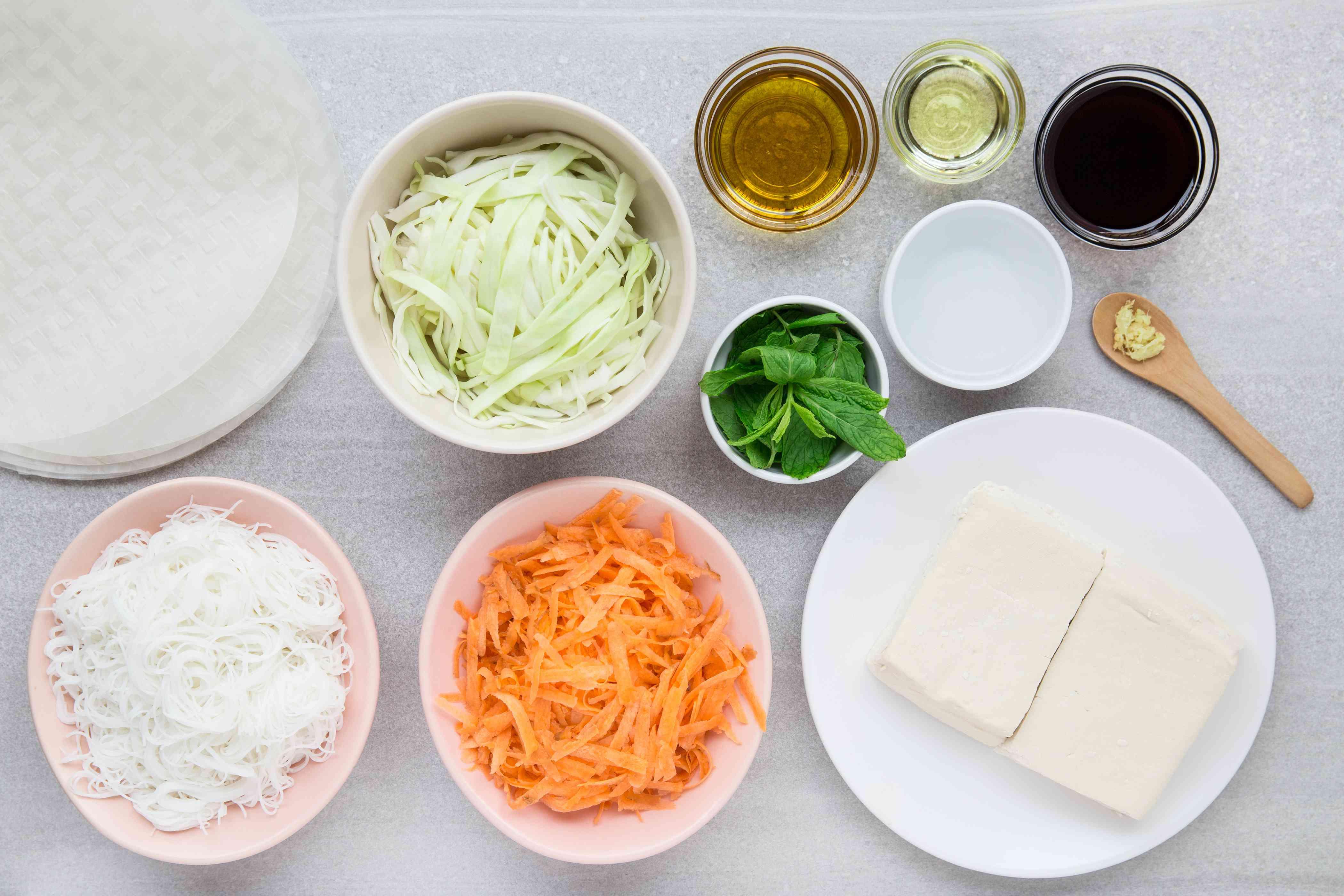 Vegan Tofu Spring Rolls ingredients