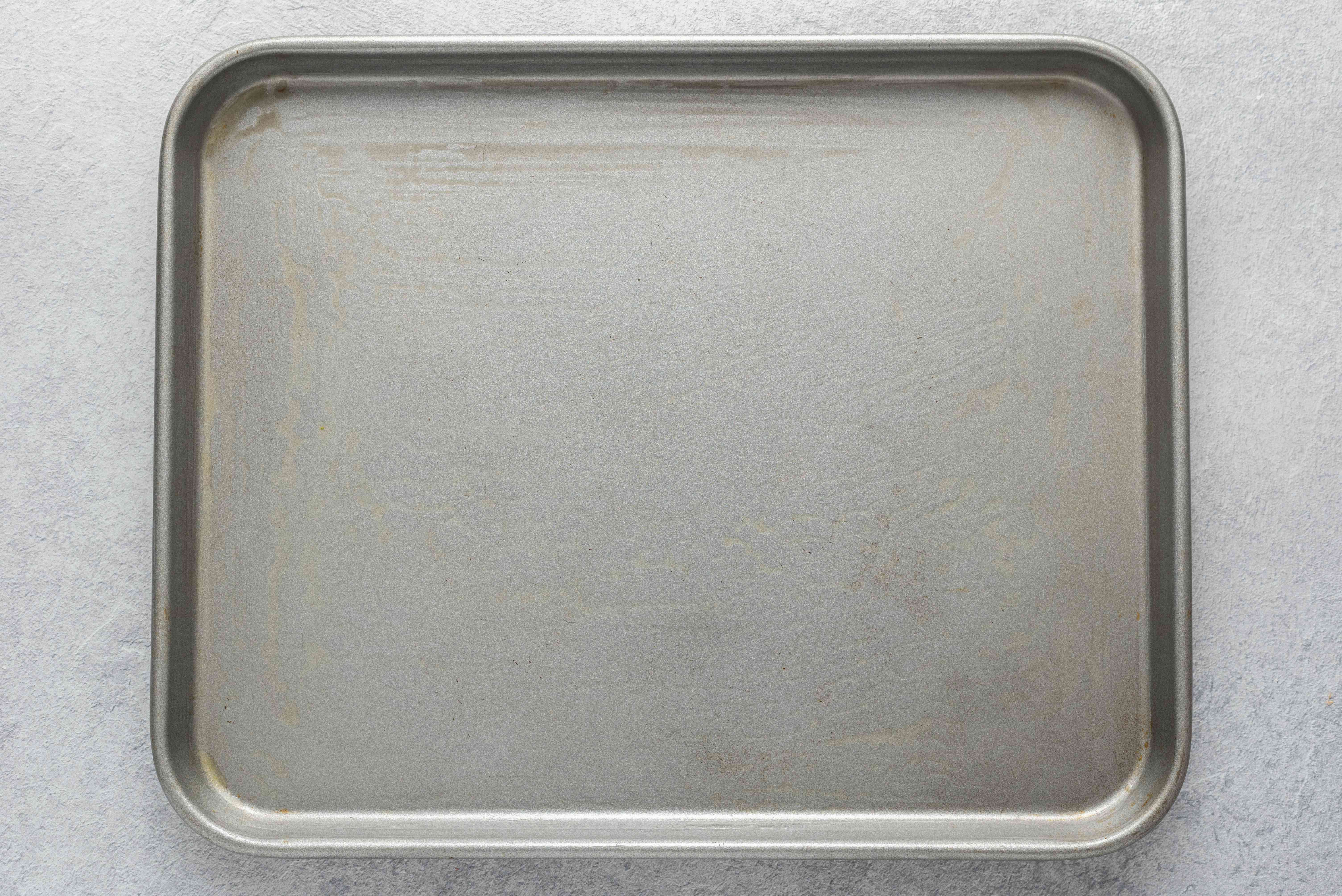 greased baking sheet