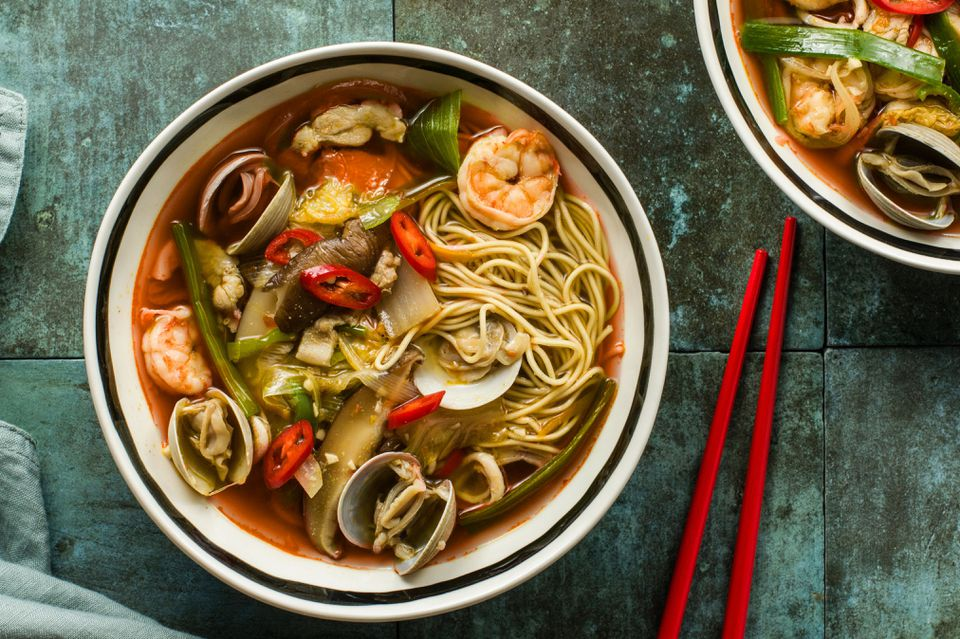 Spicy Korean Chinese Seafood Soup