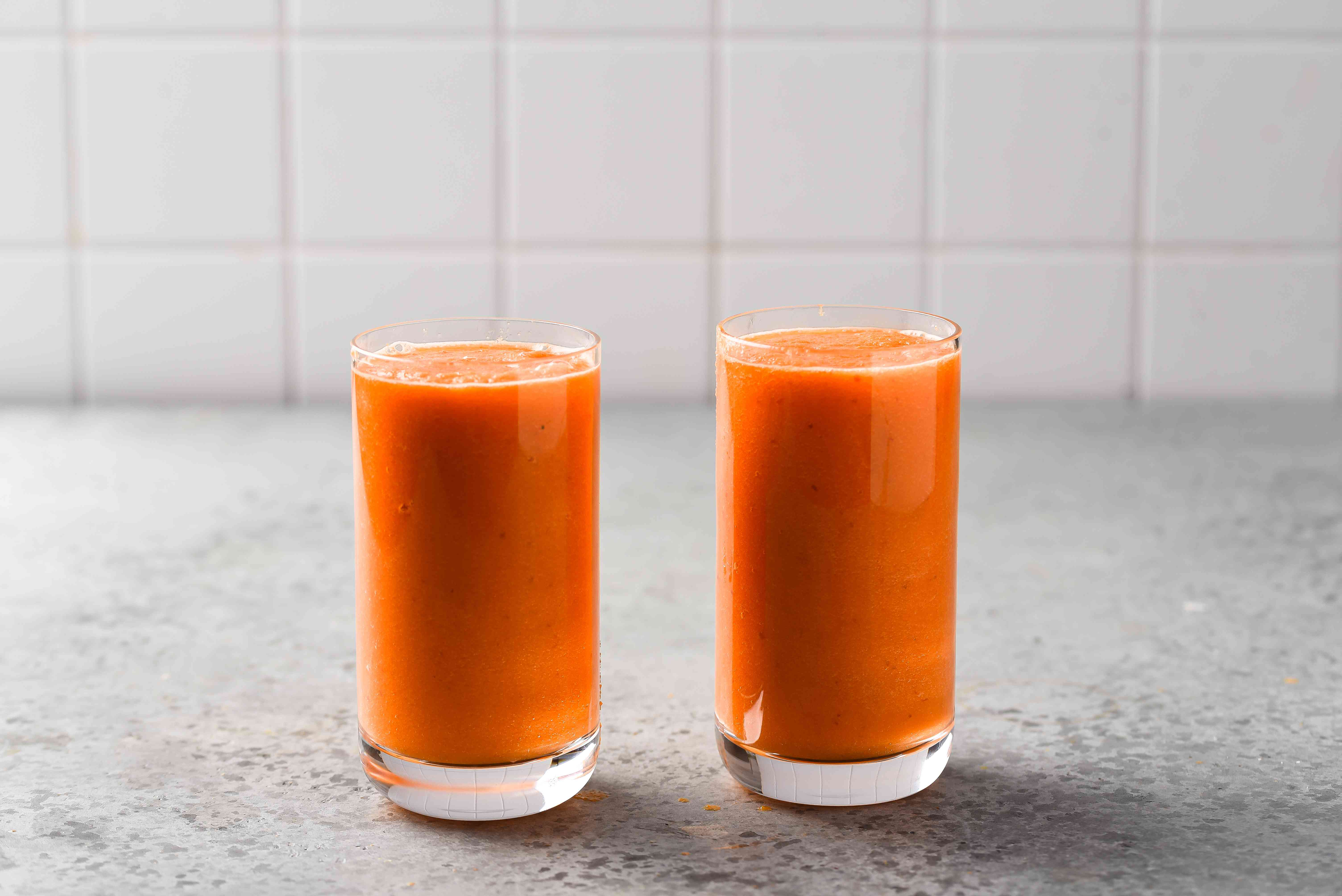 Delicious Juice Recipe With Turmeric in glasses
