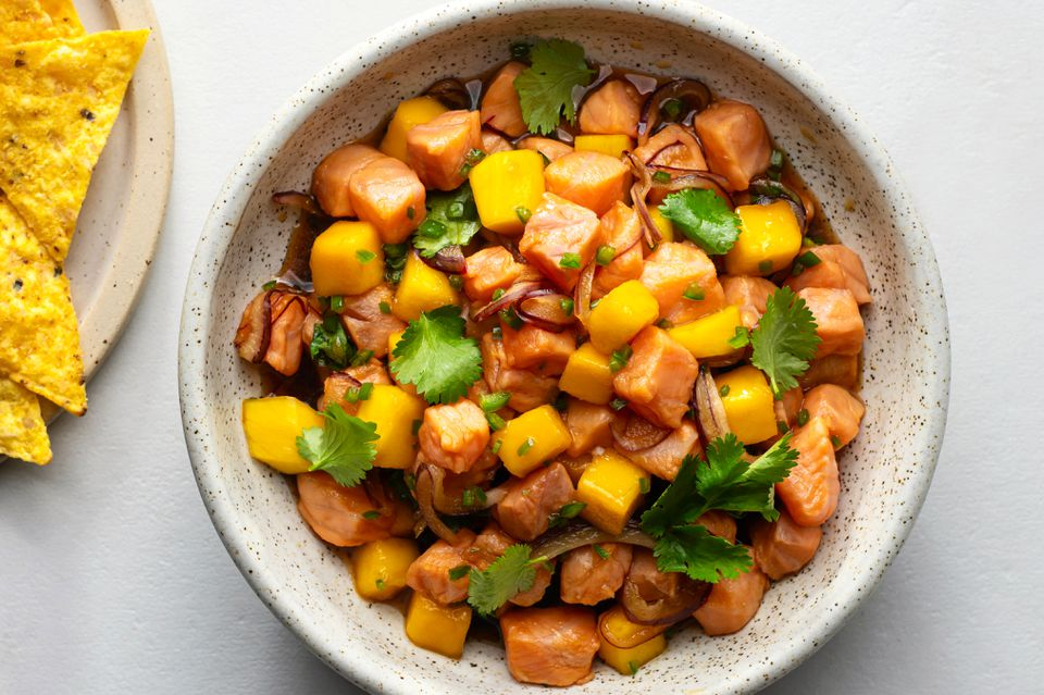Salmon Ceviche with Mango