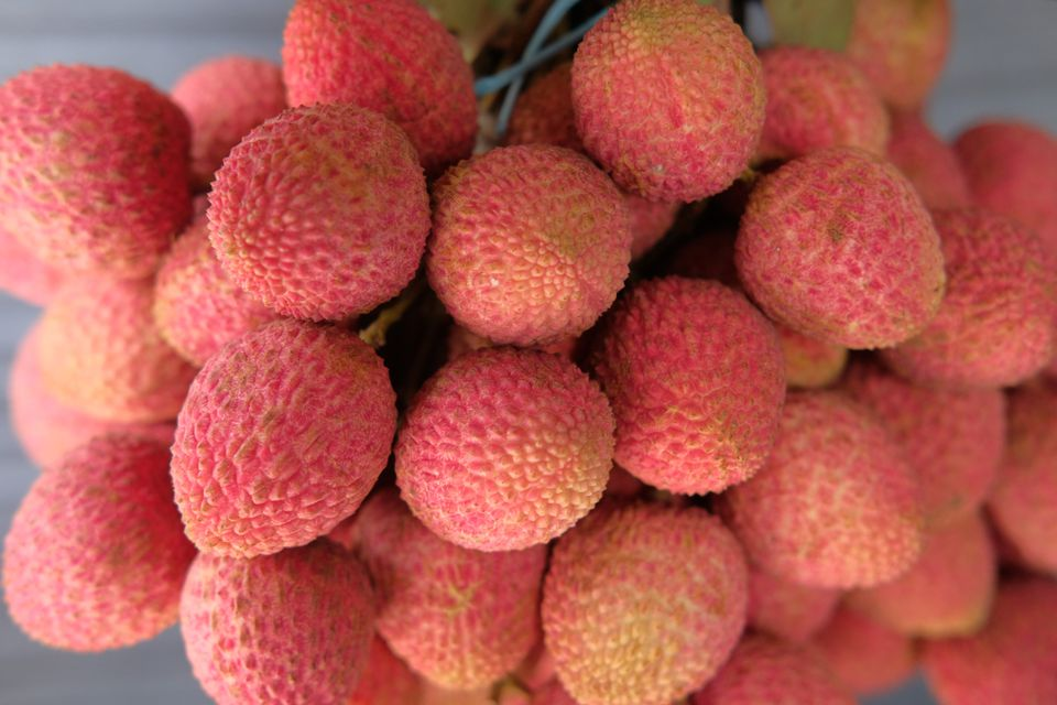 Ripe and fresh litchi fruit