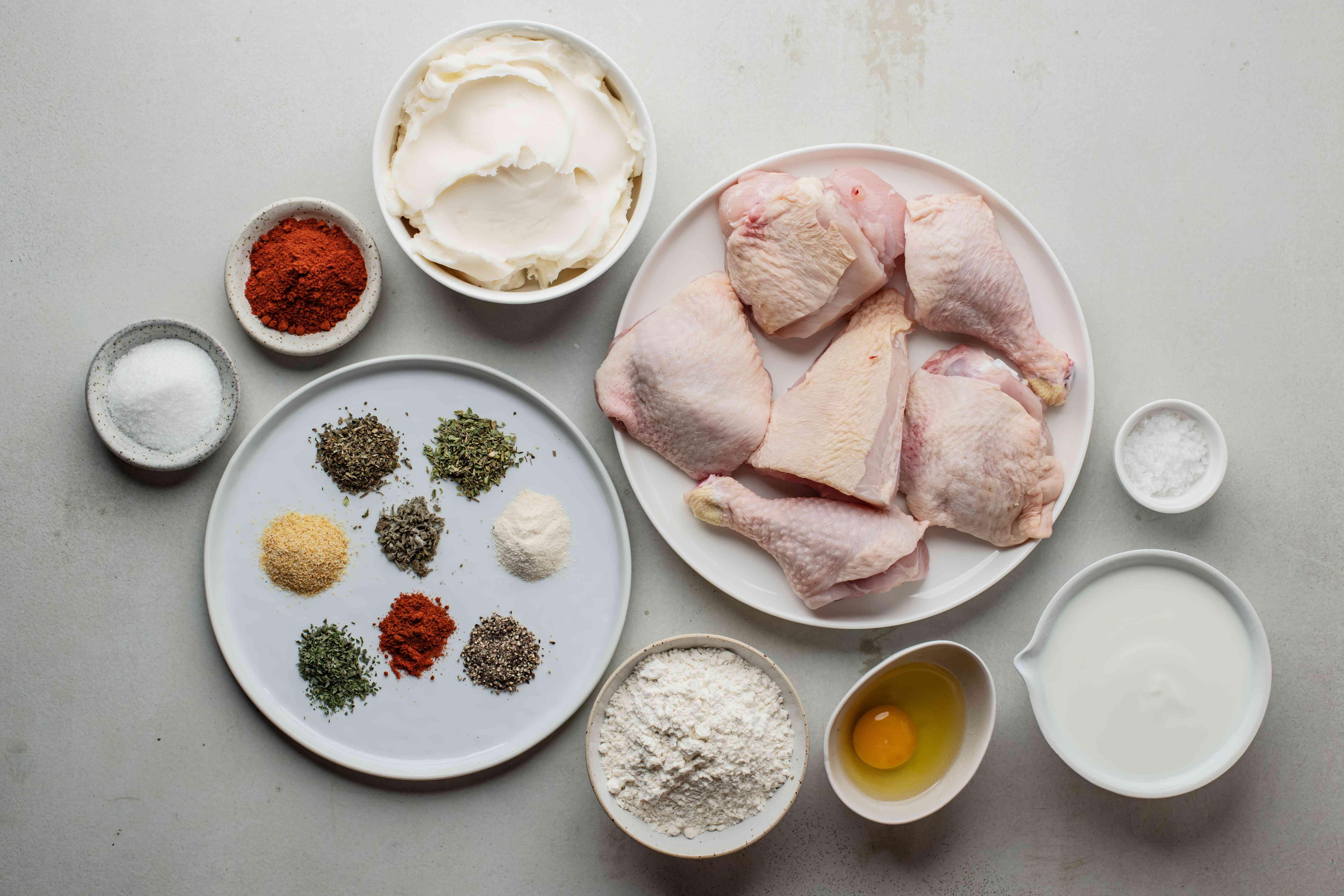 Ingredients for KFC chicken