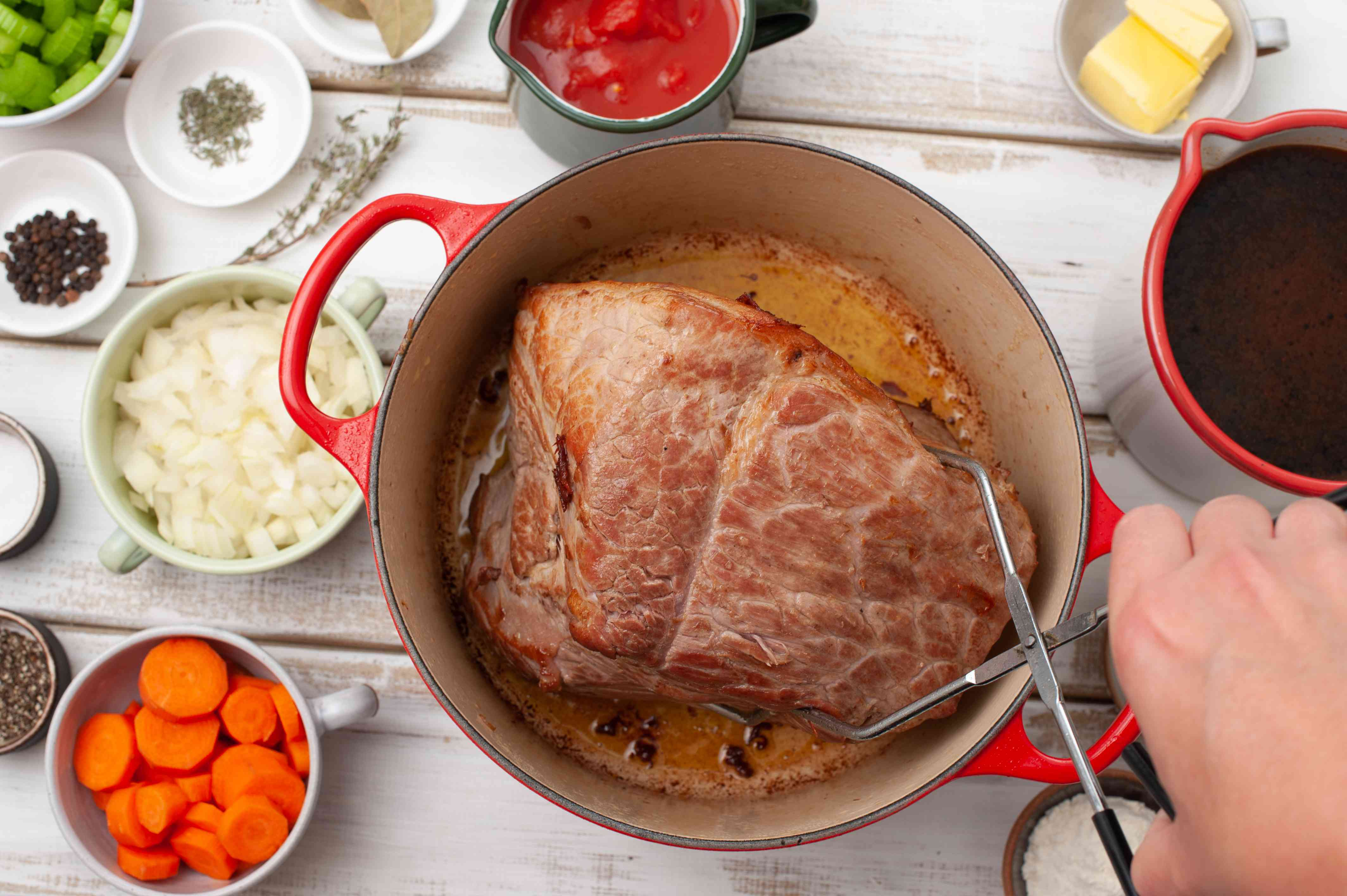 Put roast in pot
