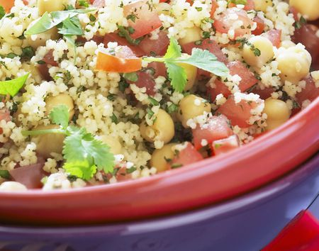 Vegan Couscous Salad With Chickpeas
