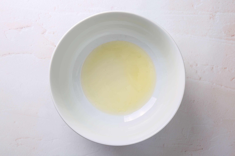 egg whites in a bowl