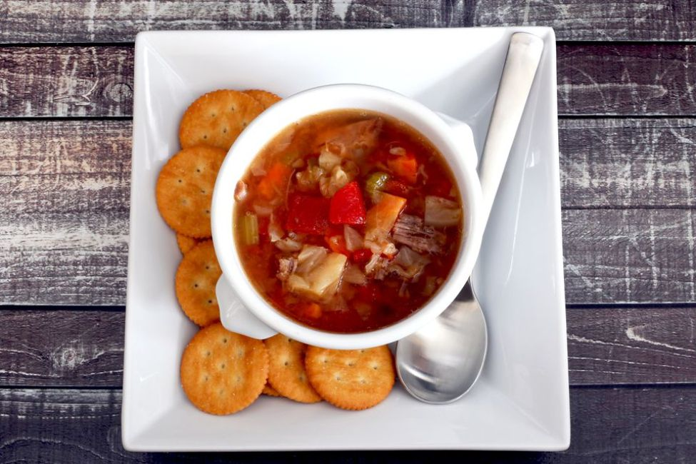 Crock Pot Beef and Cabbage Soup With Tomatoes