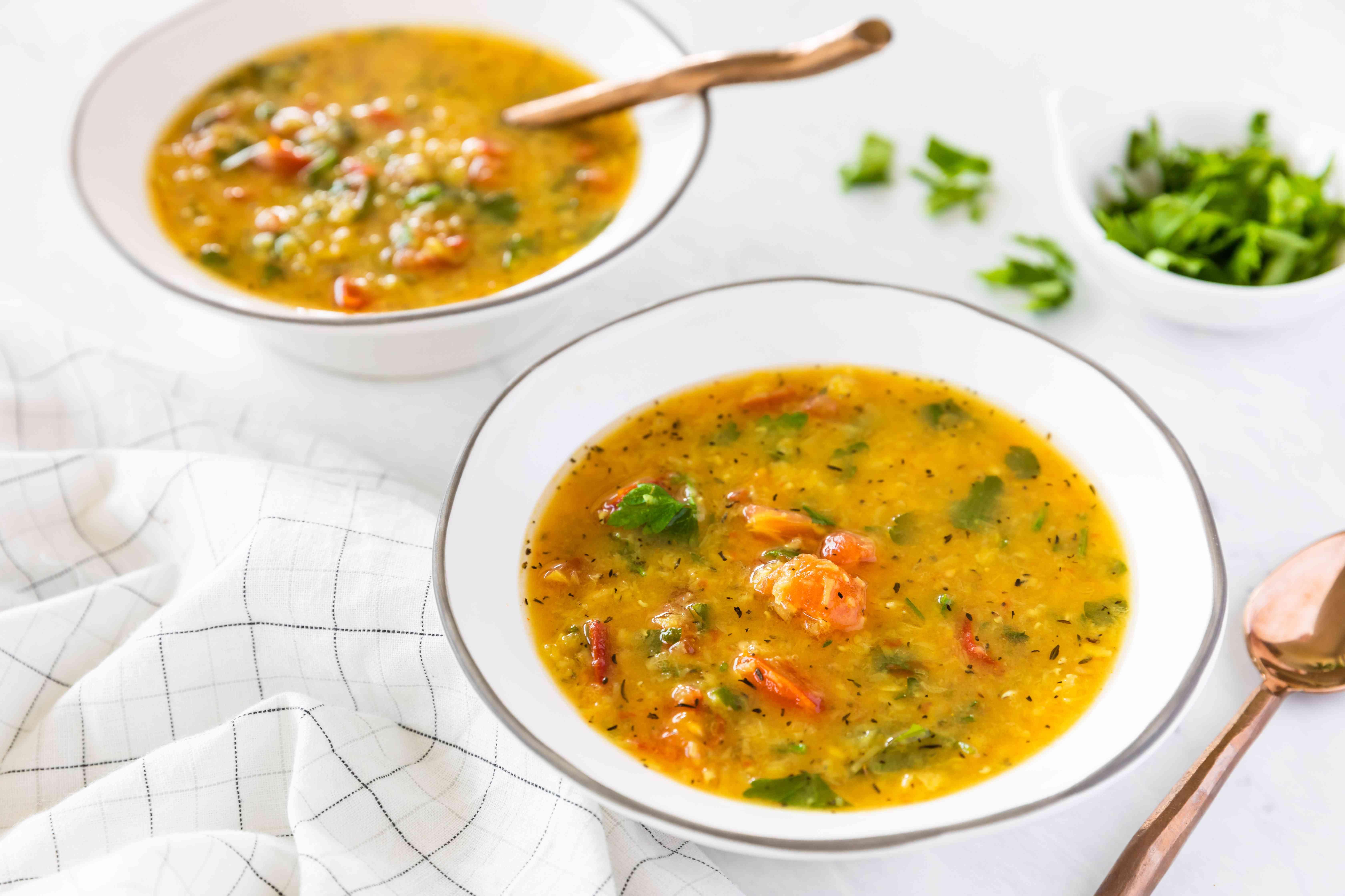Lentils with tomato masoor dal recipe