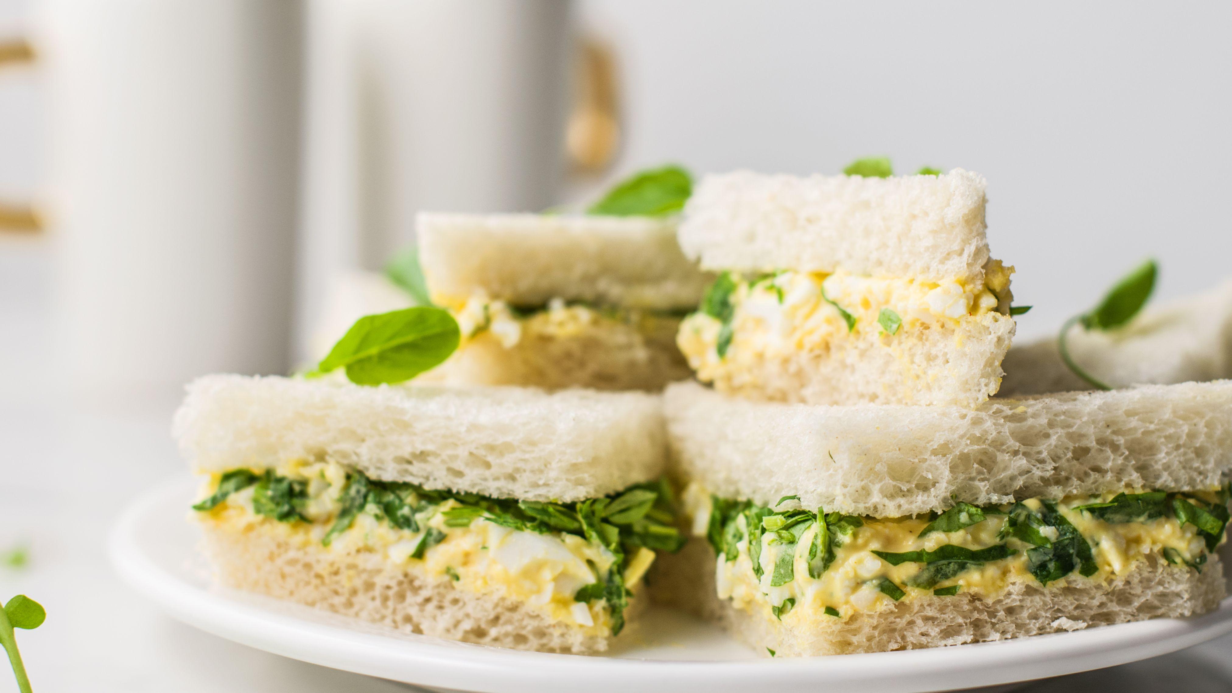 Watercress Egg Salad Tea Sandwiches Recipe