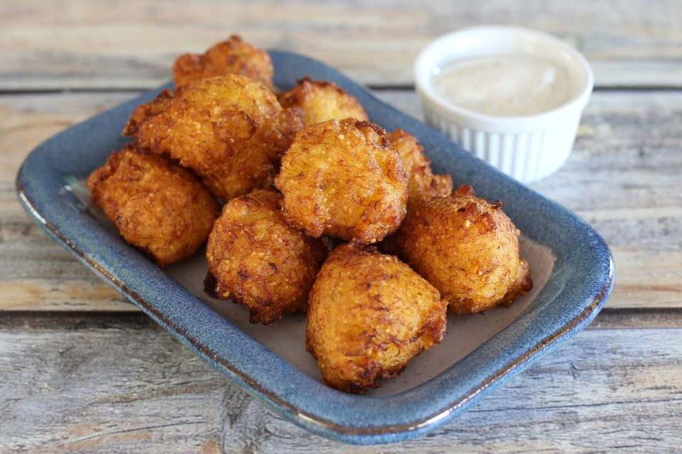 squash fritters and ranch dressing