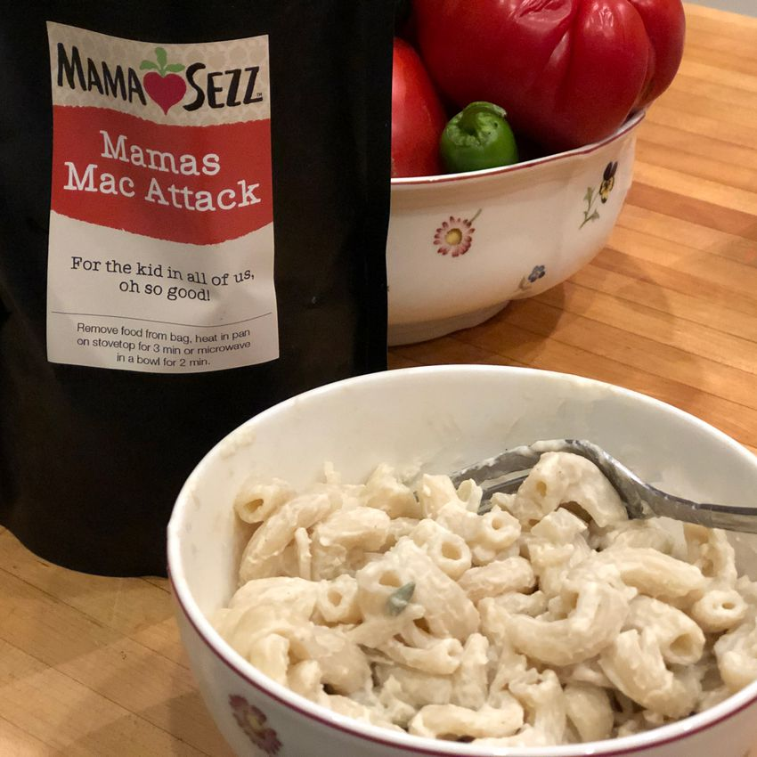 MamaSezz mac and cheese in bowl