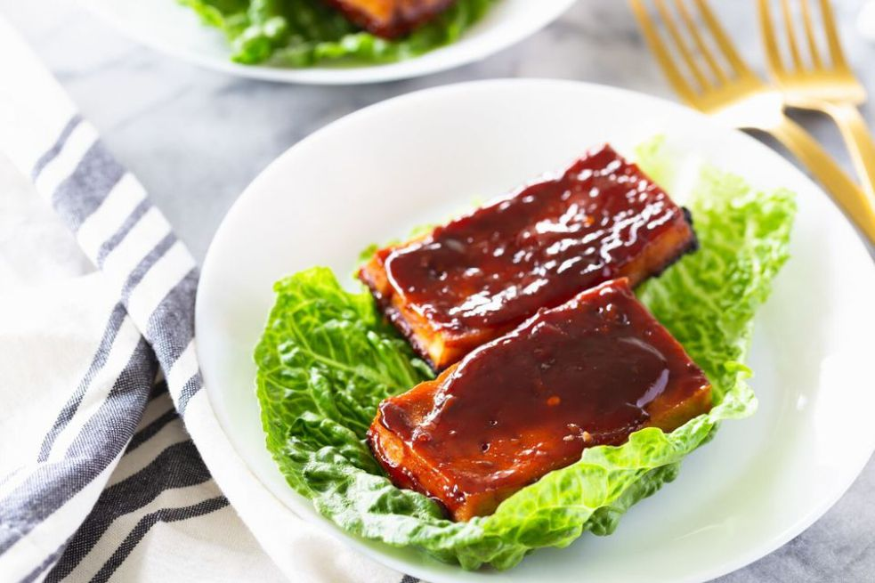 Easy BBQ Flavored Baked Tofu