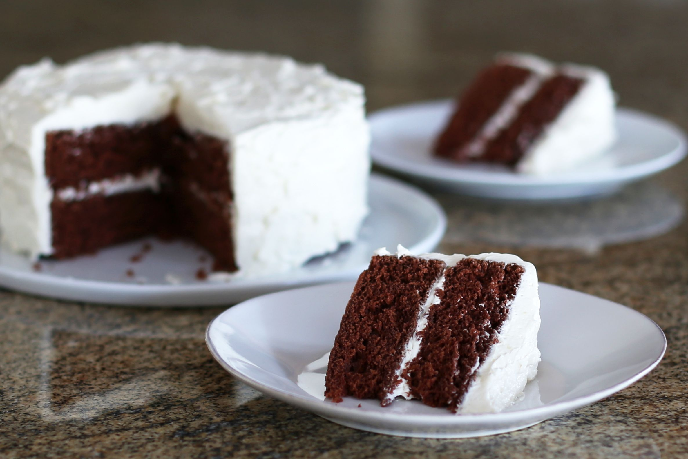 Classic Devil's Food Cake With Vanilla Frosting