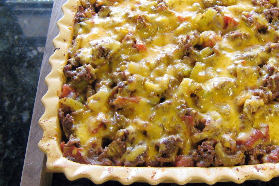 Southwestern Style Ground Beef and Potato Casserole