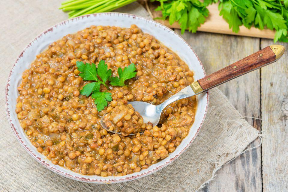 receta de lentejas marroquíes vegetarianas