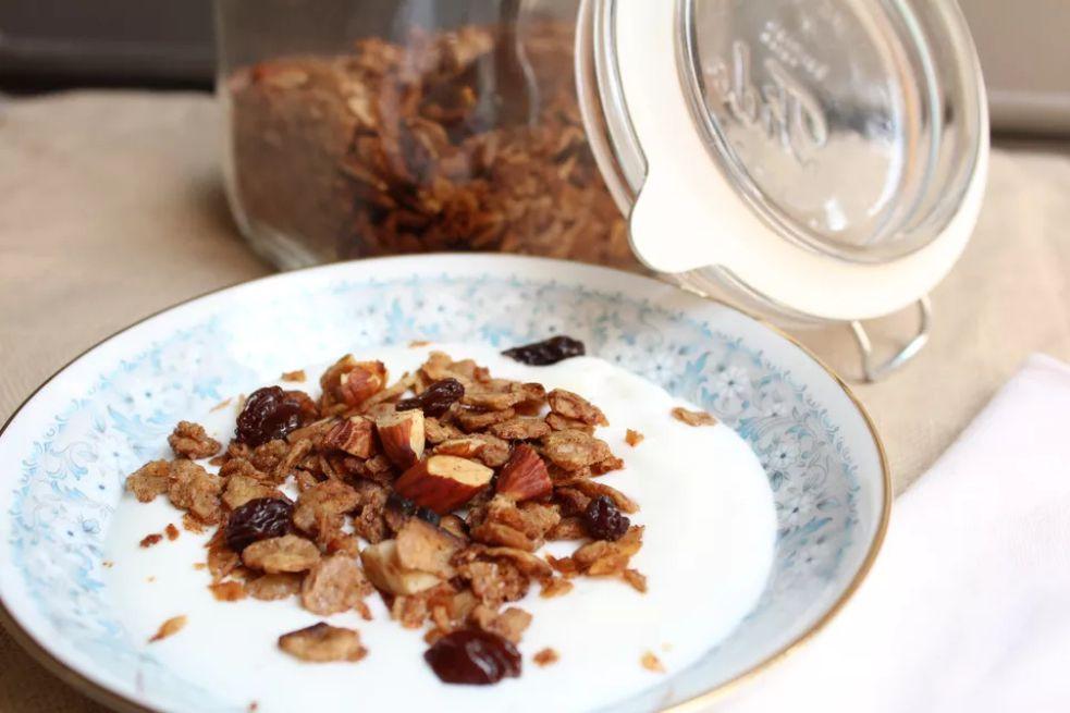 Maple Almond Matzo Granola