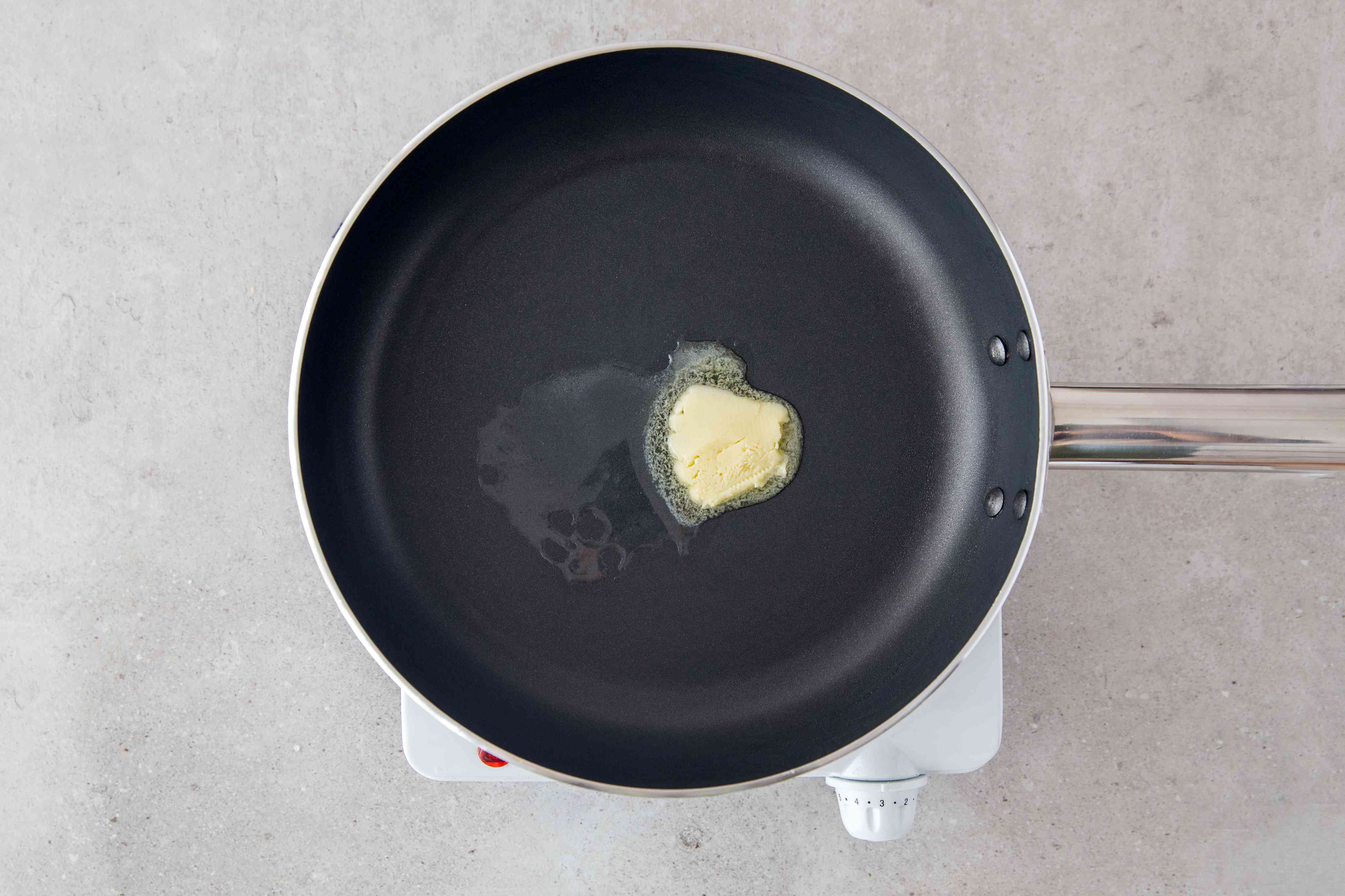 butter in a nonstick skillet