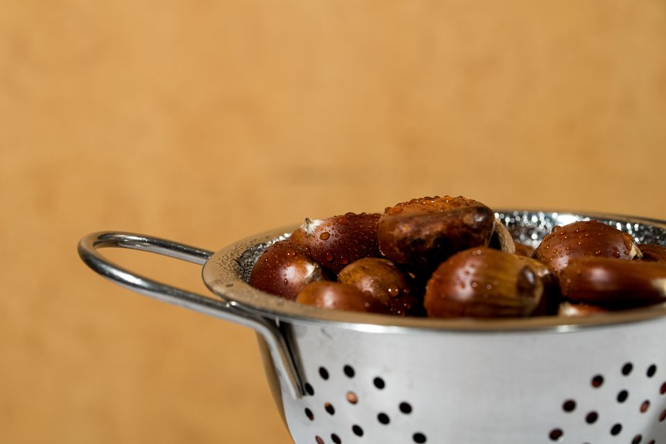 Chestnuts in a pot