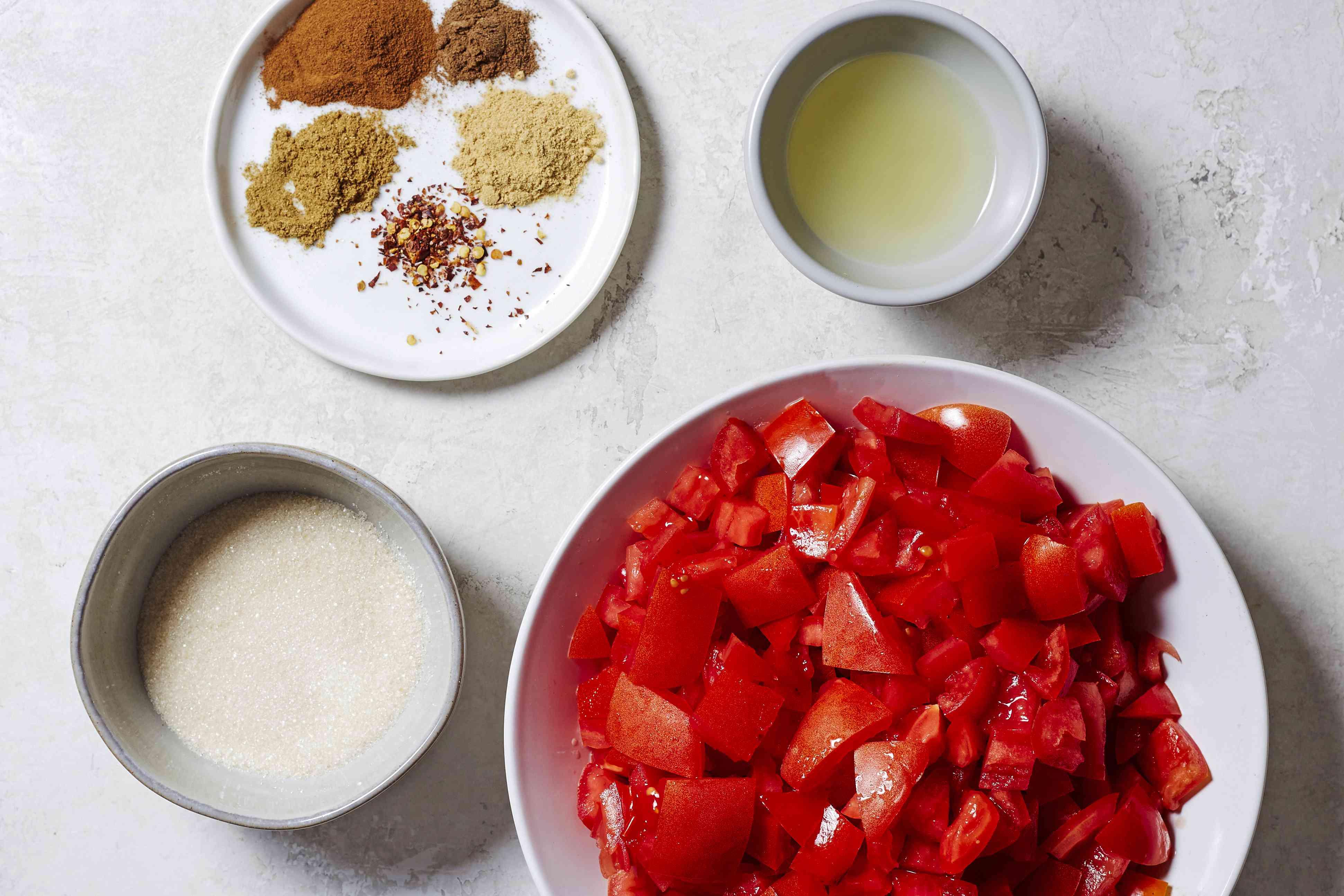 Spicy Tomato Jam ingredients